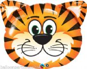 "30"" Tickled Tiger Foil Super Shape Balloon Childrens Party     # 31044"